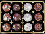 A box of 12 Whisky Truffles Selection.