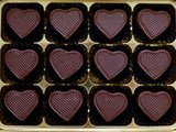 Chocolate Gift Box - 12 Dark Caramel Hearts.