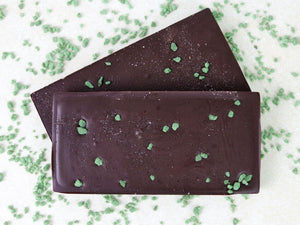Vegan Dark Chocolate Peppermint Bar by The Pod Chocolates.