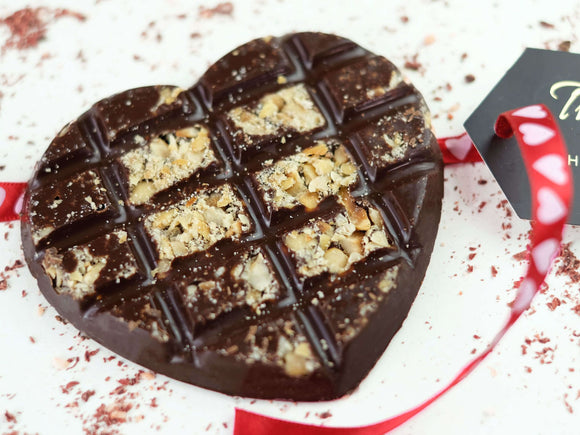 Sugar Free Hazelnut Dark Chocolate Valentine - The Pod Chocolates