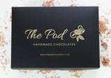 The Pod Chocolates gift box.