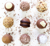 selection of handmade milk chocolates