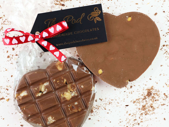 Sugar Free Hazelnut Milk Chocolate Valentines - The Pod Chocolates