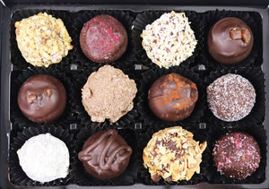 vegan chocolate truffle selection