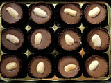Box of 12 handmade peanut butter and caramel cups.