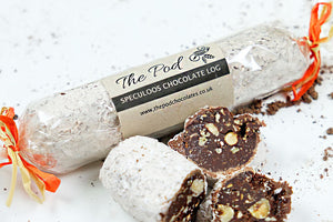 Chocolate Speculoos Log - The Pod Chocolates