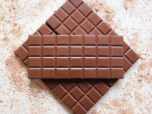 Handmade Belgian Milk Chocolate Bar.
