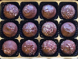 Cherry and Rose Chocolate Truffles in a gift box.