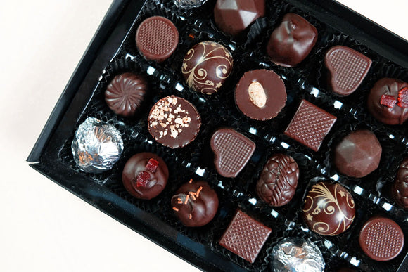 a box of vegan chocolates