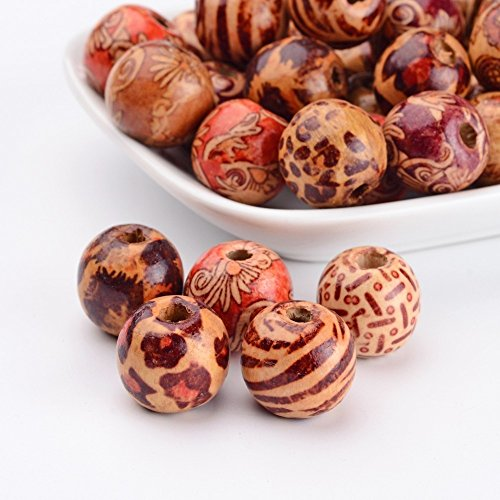 Multipurpose Painted Wood Beads