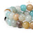 BEADNOVA 8mm Natural Amazonite Gemstone Round Loose Beads for Jewelry Making (45-48pcs)