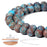 BEADNOVA 8mm Crazy Matte Blue Lace Agate Gemstone Round Loose Beads for Jewelry Making (45-48pcs)