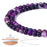 BEADNOVA 4mm Matte Purple Stripe Agate Gemstone Round Loose Beads for Jewelry Making (94-96pcs)