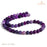 BEADNOVA 8mm Matte Purple Stripe Agate Gemstone Round Loose Beads for Jewelry Making (45-48pcs)