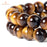BEADNOVA 10mm Yellow Tiger Eye Gemstone Round Loose Beads for Jewelry Making (38-40pcs)