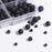 BEADNOVA 4-10mm Natural Black Lava Rock Stone Gemstone Round Loose Beads with 7pcs Chakra Beads and 2m Crystal Stretch Cord For Jewelry Making (340pcs Box Set)