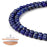BEADNOVA 4mm Blue Lapis Lazuli Gemstone Round Loose Beads for Jewelry Making (94-96pcs)