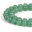 BEADNOVA 10mm Green Aventurine Gemstone Round Loose Beads for Jewelry Making (38-40pcs)