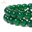 BEADNOVA 10mm Natural Green Agate Gemstone Round Loose Beads for Jewelry Making (38-40pcs)