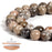 BEADNOVA 10mm Natural Chrysanthemum Stone Gemstone Round Loose Beads for Jewelry Making (38-40pcs)