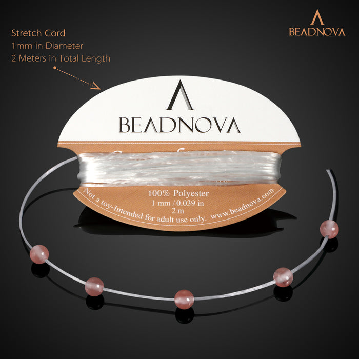 BEADNOVA 4mm Natural Watermelon Cherry Quartz Gemstone Round Loose Beads for Jewelry Making (94-96pcs)