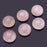 BEADNOVA 6 Pcs 8mm Natural AAA Grade Rose Quartz Beads Semiprecious Stone Gemstone Round Flat-Back Cabochons Beads Fashion Jewelry Beads Findings Set With Free Jewelry Packing Box