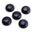 BEADNOVA 5 Pcs 12mm Natural Black Agate Beads Semiprecious Stone Gemstone Round Flat-Back Cabochons Beads Fashion Jewelry Beads Findings Set With Free Jewelry Packing Box