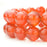 BEADNOVA 8mm AAA Natural Smooth Polish Carnelian Agate Gemstone Round Loose Beads For Jewelry Making (48-50pcs / Strand)