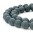 BEADNOVA 8mm Natural Black Color Matte Finish Onyx Gemstone Agate Round Loose Beads For Jewelry Making (48-50pcs / Strand)