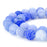 BEADNOVA 8mm Violet Blue Frosted Agate Unpolished Cracked Matte Gemstone Gem Strand Round Loose Beads for Jewelry Making