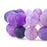 BEADNOVA 10mm Purple Frosted Agate Unpolished Cracked Matte Gemstone Gem Strand Round Loose Beads for Jewelry Making