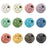 BEADNOVA 6mm Colorful Lava Rock Stone Gemstone semi precious stone Beads Round Loose Beads for Jewelry Making Findings Accessories (600pcs, Assorted Colors Box Set)