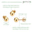 JADENOVA 8MM Stainless Steel Ball Stud Earrings Gemstone Stud Earrings for Women Men (8 Pairs/Set Ball Earring Studs)