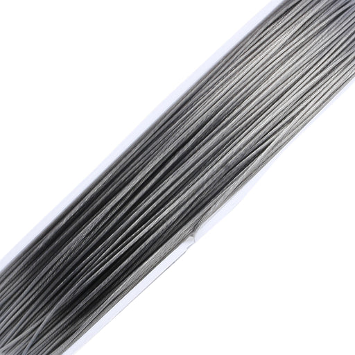 BEADNOVA 0.015-Inch 7-Strand Nylon Coated Stainless Steel Bead Stringing Wire for Jewelry Making (50-Feet)