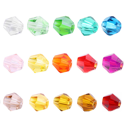 BEADNOVA 4mm Bicone Faceted Crystal Glass Beads For Jewelry Making DIY Craft Beads Bracelet Wholesale Mix lot 1500pcs