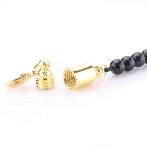 BEADNOVA Gold Plated Magic Clever Clasps Built In Safety Lock with Lobster Clasp