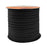 BEADNOVA 5mm Flat Leather Cord Faux Suede Cord 50 Yards Roll Spool for Necklace Bracelet Jewelry Making (Black)