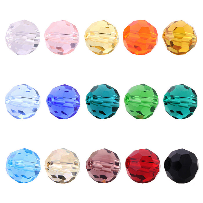 BEADNOVA 6mm Briolette Faceted Rondelle Crystal Glass Beads For Jewelry Making DIY Craft Beads Bracelet Wholesale Mix lot 750pcs