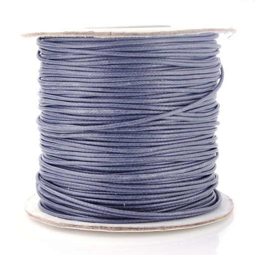 BEADNOVA 1mm Waxed Cotton Beading Cord Waxed String Wax Coating Cord for Jewelry Making 100 Yards Roll Spool, Grey