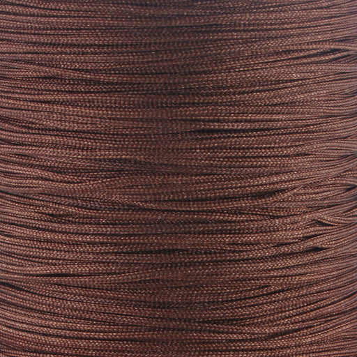 BEADNOVA 0.8mm Brown Chinese Macrame Cord Thread Nylon Beading Cord 100m