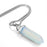 BEADNOVA Synthetic Opalite Gemstone Necklace with Stainless Steel Chain 18 inch