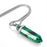 "BEADNOVA Synthetic Malachite Gemstone Necklace with 18"" Stainless Steel Chain"