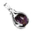 BEADNOVA Healing Natural Amethyst Gemstone Necklace Crystal Ball Pendant Necklace with Stainless Steel Chain 18""