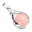 BEADNOVA Healing Natural Rose Quartz Gemstone Necklace Crystal Ball Pendant Necklace with Stainless Steel Chain 18""