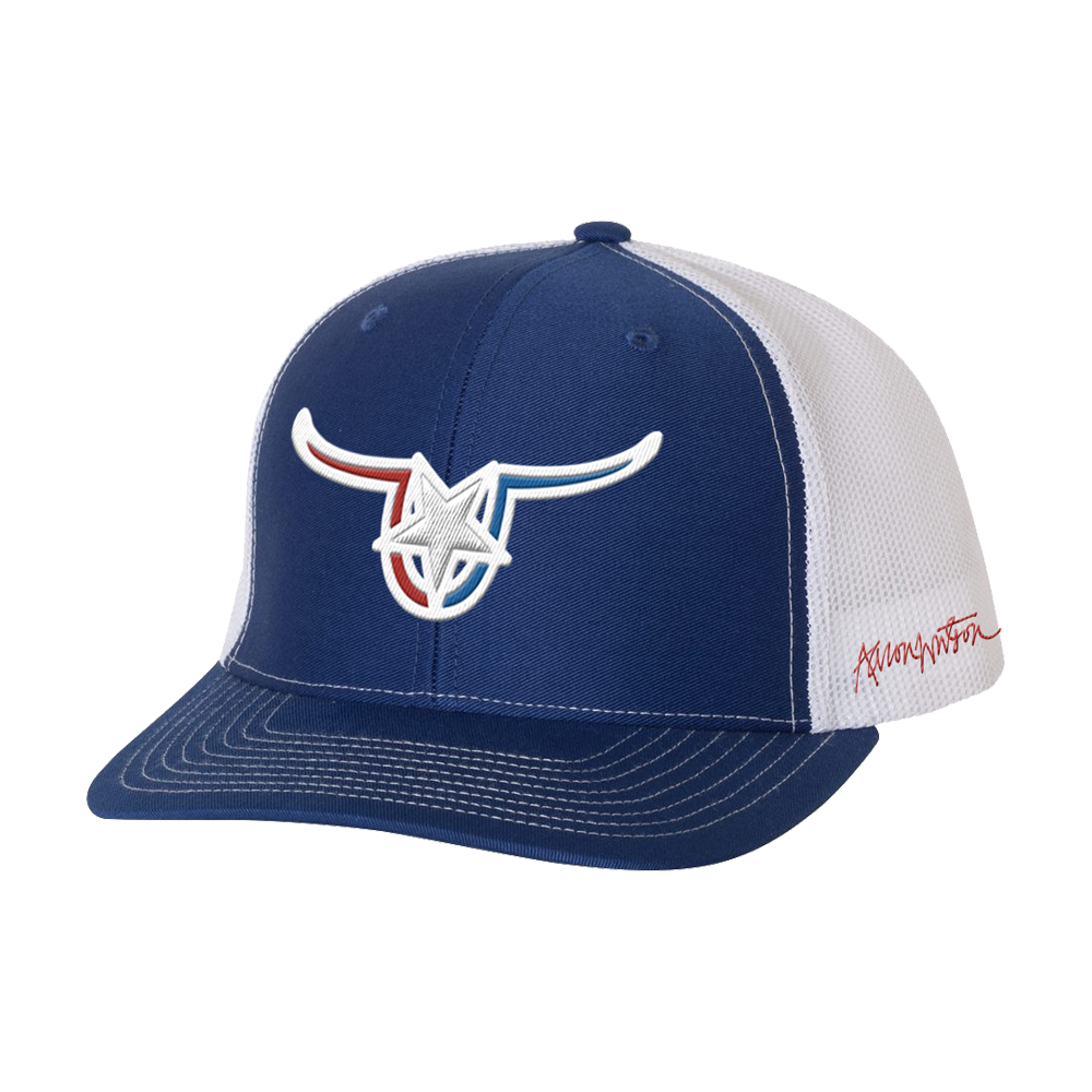 Royal Blue Vaquero Horns Hat