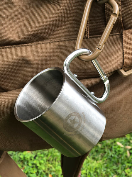 Camping stainless steel mug, Honoring our Heroes