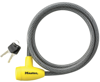 Masterlock Locking Cable - 5 ft X 1/2 in Keyed