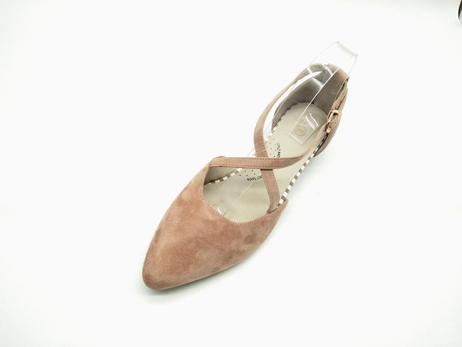 EMOII Lily - Nude Suede Leather