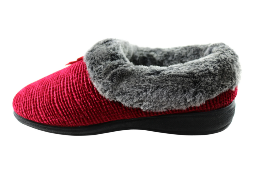 Scholl Deep Burgundy Slipper