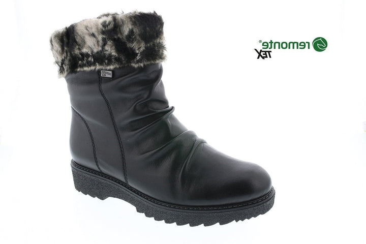 Remonte Lined Boot Black